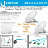 Ubiquiti PtP Bridge Link NanoBeam 5AC-GEN2 - 450MBPS