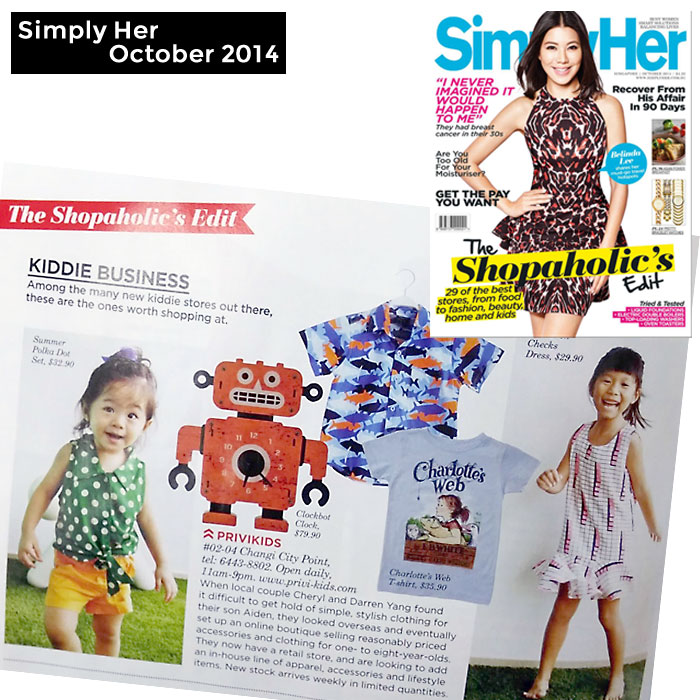 PriviKids featured in Simply Her magazine