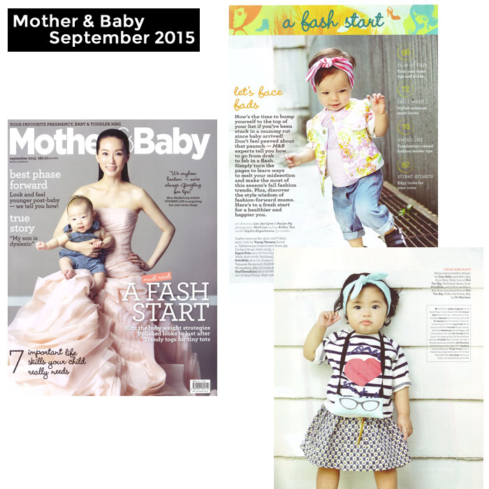 PriviKids featured in Mother & Baby magazine (September 2015)