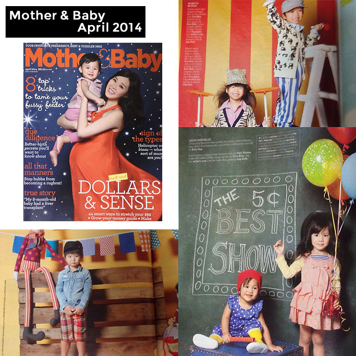 PriviKids featured in Mother & Baby magazine (April 2014)