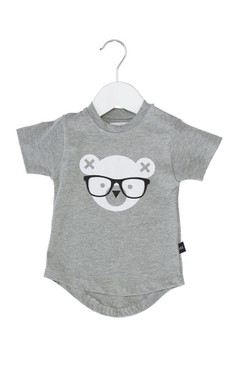 Huxbaby Nerd Bear Drop Back T-shirt
