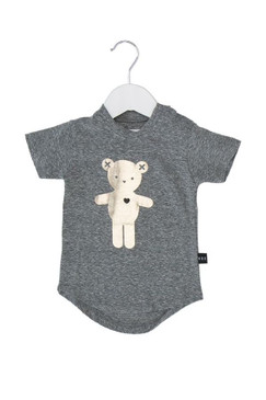 Huxbaby Heart Bear Drop Back T-shirt