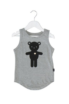 Huxbaby Heart Bear Drop Back Singlet