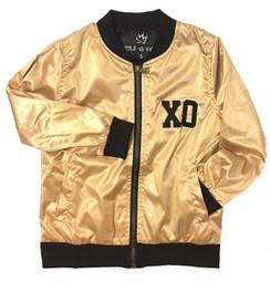 LXK Gold XO Bomber Kids Jacket