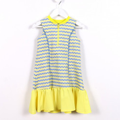 Sporty Frills Dress Yellow