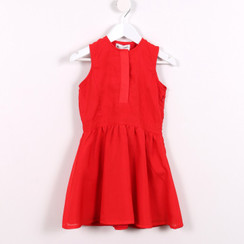 Fit and Flare Dress Red