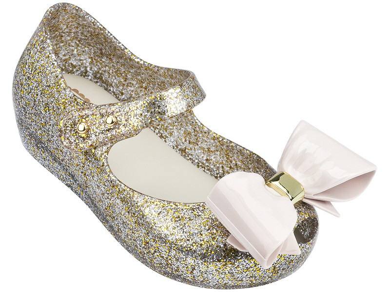 c40d913767 Mini Melissa Ultragirl VIII BB Gold Glitter - PriviKids