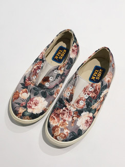 Grey Floral Shoes