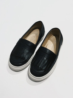 Black Fringe Shoes