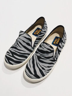 Grey Zebra Printed Shoes