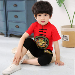 Boy Kungfu Set Red