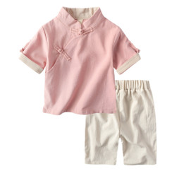 Boy Kungfu Set Pink