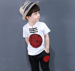 Boy Kungfu Set White