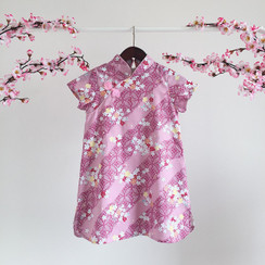Floral Printed CNY Dress Pastel