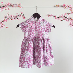 Floral Printed CNY Dress Pastel II