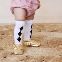 Hubble + Duke Knee High Socks - Diamond Black