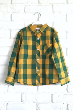 Mustard Green Checks Shirt