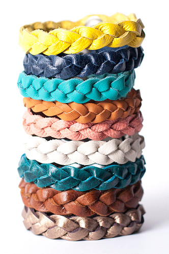 Colors from top: Yellow, Navy Blue, Faded Jean Blue, Terracotta, Peach, White/Cream, Dark Teal, Chestnut Brown, Muted Bronze