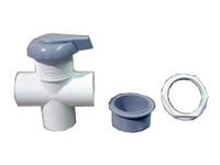 "Master Spa - X279800 - 2"" Grey HydroFlow Diverter Valve for Master Spas from 1999 to 2002 - Demo View"
