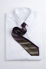 Narrow Repp Stripe - Purple and Green