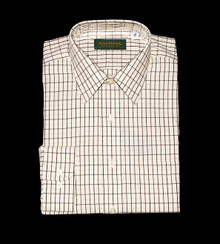 Tattersall Shirt, Green/Brown Check