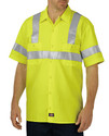 Dickies VS100 ANSI Class 2 Hi Vis Short Sleeve Work Shirt