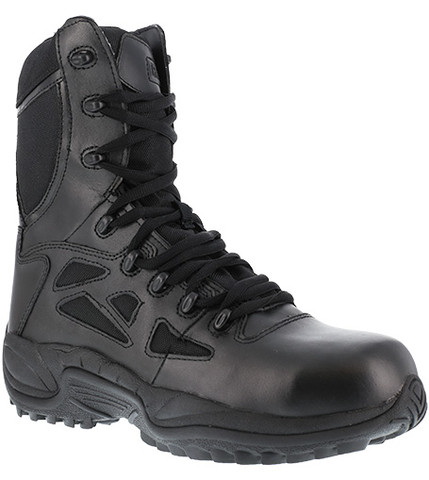 Reebok RB8874 Rapid Response Men's 8 Inch Stealth Composite Toe Boot