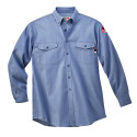 Walls 56388 Flame Resistant Button Down Chambray Work Shirt