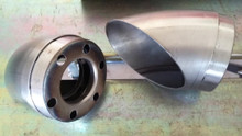 "3.5"" Slip in Turn Outs with Mini Baffles. Raw steel."
