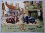 MG Car Octagon Garage Nostalgic Metal Advert Large Sign 300mm x 400mm