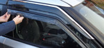 NEW STYLE WIND DEFLECTORS FOR THE MG3 (ALL MODELS)   MATT AND GLOSS BLACK