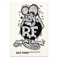 Rat Fink Sticker - Large - Black & White