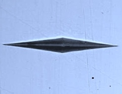 Knoop HK Microhardness Diamond Indenter For Leitz. Brystar Metrology Tools.