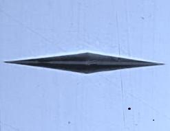 Knoop HK Microhardness Diamond Indenter For Shimatzu. Brystar Metrology Tools.