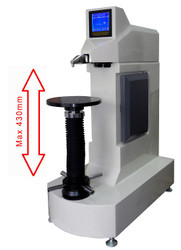 Phase II Tall Frame Digital Rockwell Twin Tester 900-386 Iso View. Brystar Metrology Tools