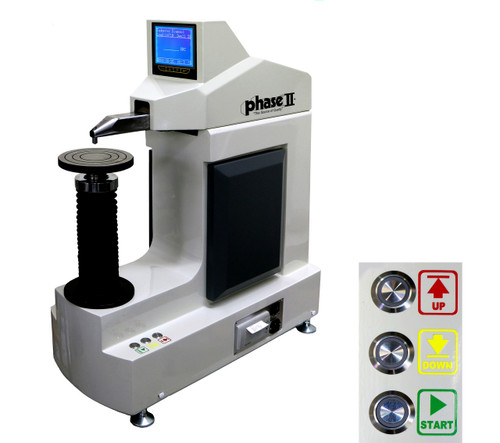 Phase II Fully Automated Z-Axis Digital Rockwell Twin Tester 900-388 Iso View. Brystar Metrology Tools