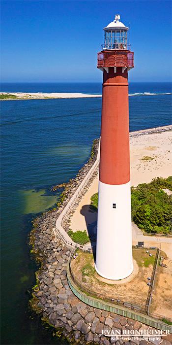 Barnegat Light New Jersey Evan Reinheimer Kite Aerial