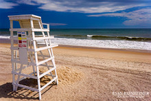 Beach and Lifeguard Stand - Montauk, NY