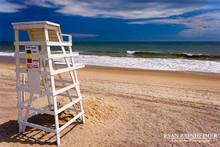 Beach and Lifeguard Stand - Montauk, NY