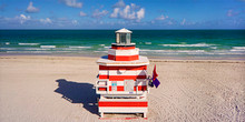 Lifeguard Station Tower Stand - South Beach Miami, FL