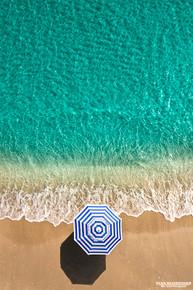 Blue Stripe Umbrella - Boca Raton, Florida