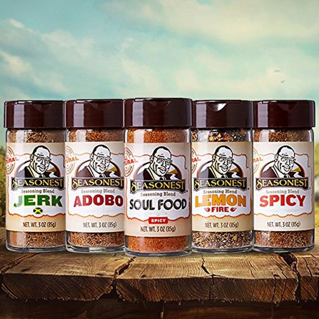 Seasonest Keep It Hot 5 Pack Spice Blends