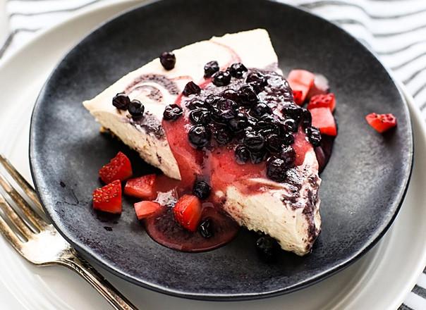 Red, White & Blue Abound In This No-Bake Cheesecake Dessert