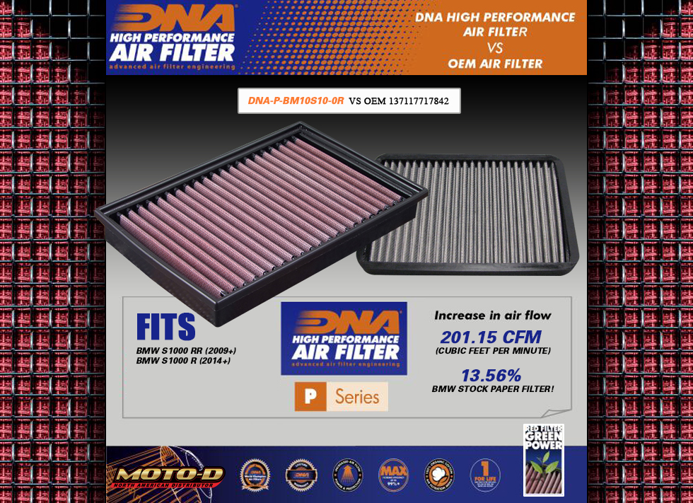 dna filers are superior to stock oem filters