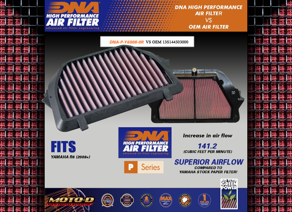 superior airflow compared to yamaha stock oem paper air filters