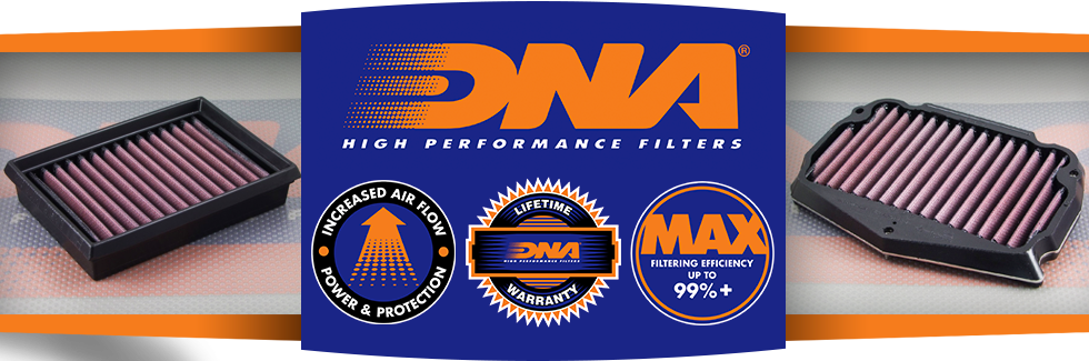 dna air filters from moto-d - let your motorcycle breathe