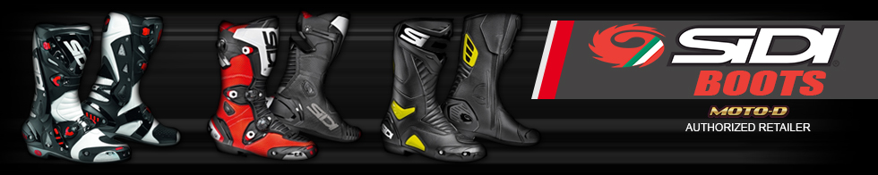 motorcycle race boots banner