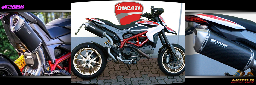 Spark Exhaust System for your Ducati Hypermotard