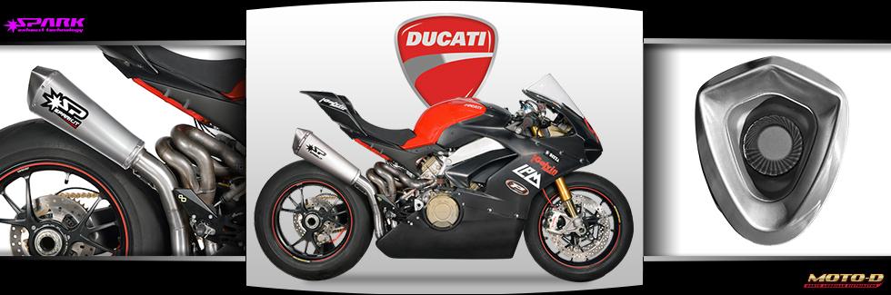 Titanium motorcycle exhaust system