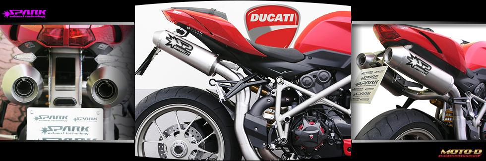 full titanium exhaust system for ducati